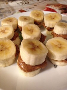 Banana Almond Butter Bites