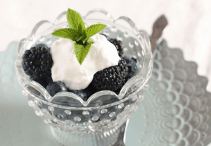 Berries and Cream with Mint