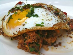 Paleo Breakfast Ideas - Duck Confit Sweet Potato Hash