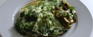 Paleo Breakfast Ideas - Green and White Omelette