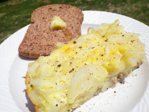 Paleo Breakfast Ideas - Onion Frittata