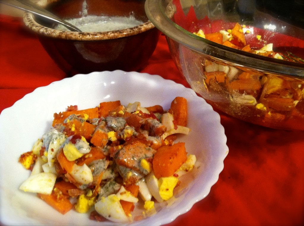 Sweet Potato Bacon Egg Salad