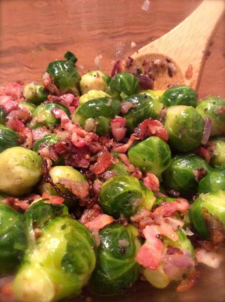 Bacon & Red Onion Brussells Sprouts