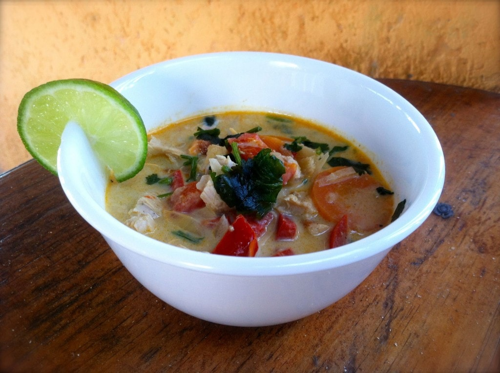 Coconut Curried Chicken Soup