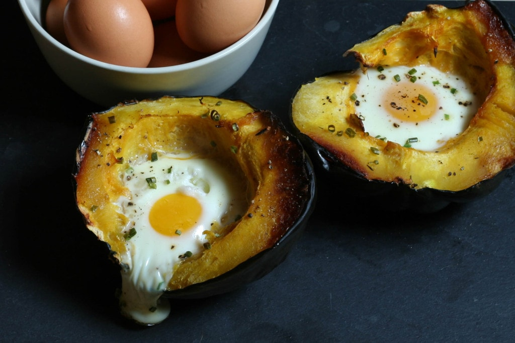 eggs baked in acorn squash