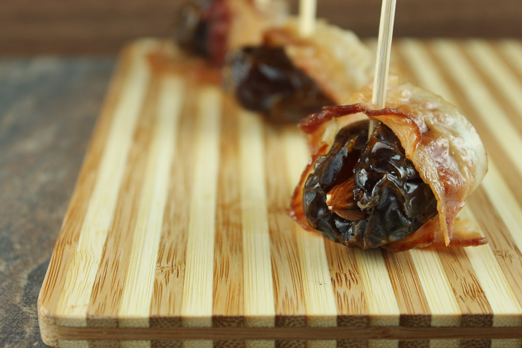 Bacon wrapped dates paleo in Brisbane
