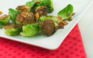 Broiled Brussels Sprouts with Bacon