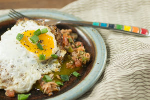 Tuna Hash with Dippy Egg