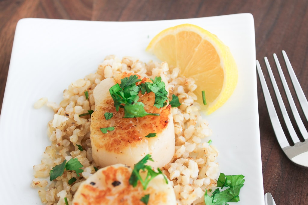 scallops-and-cauliflower-rice