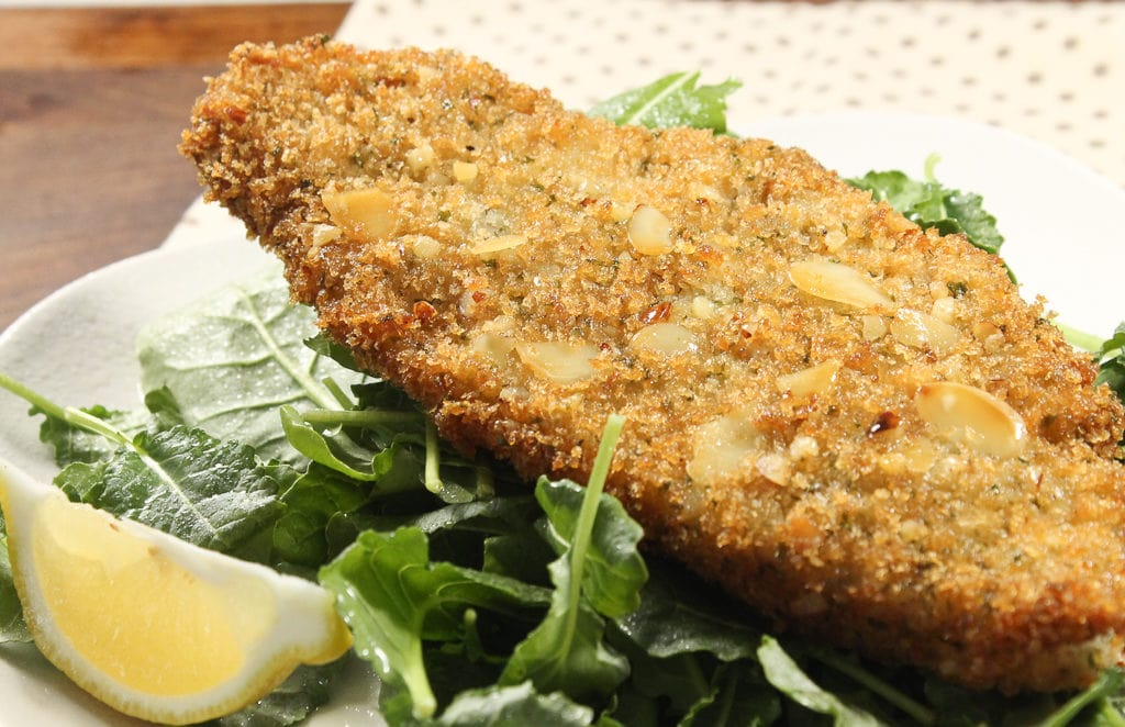 almond-crusted-cod-with-kale-salad