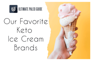 keto ice cream cone in hand
