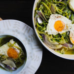 zucchini noodles with eggs