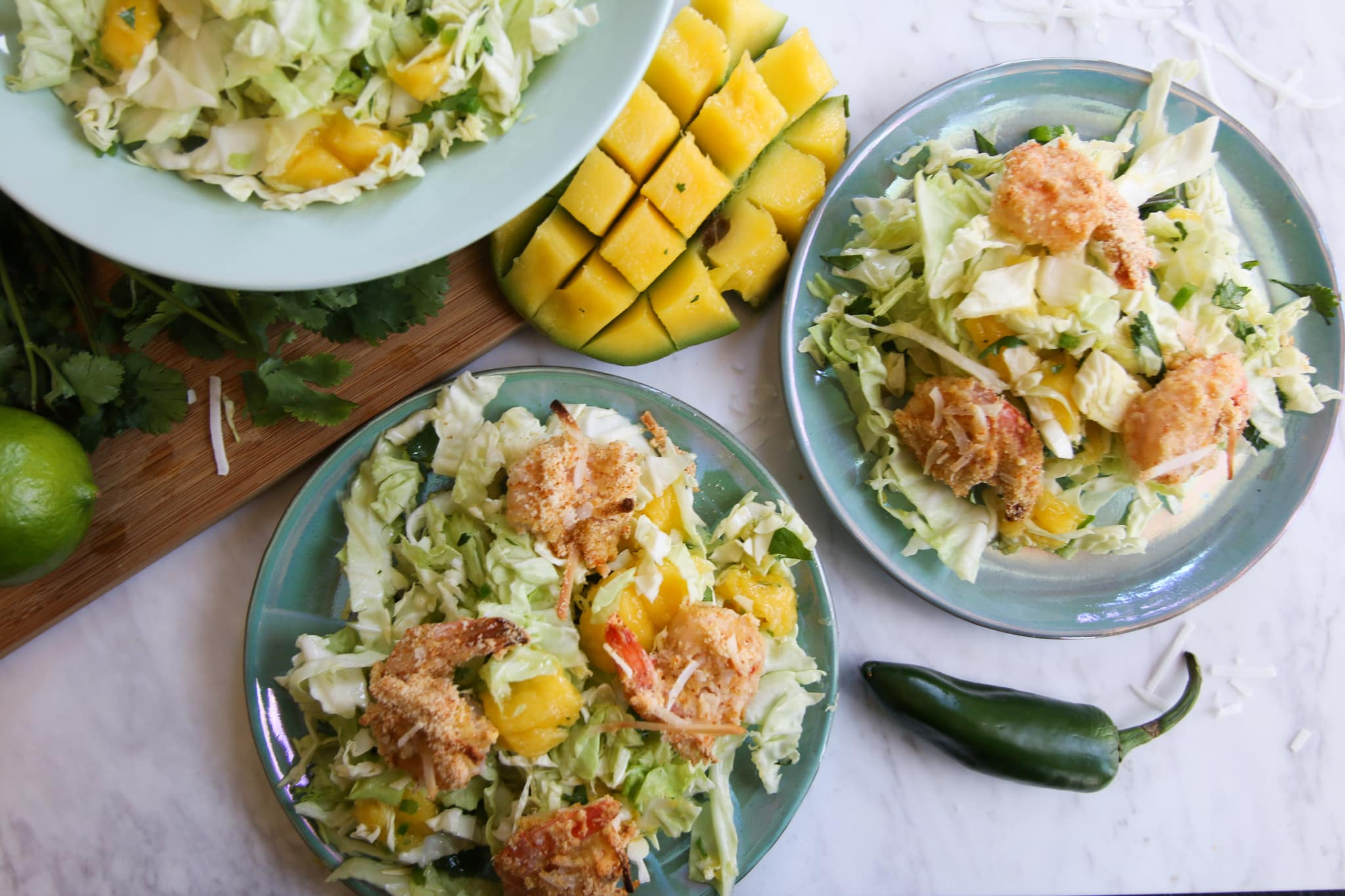 coconut shrimp mango slaw