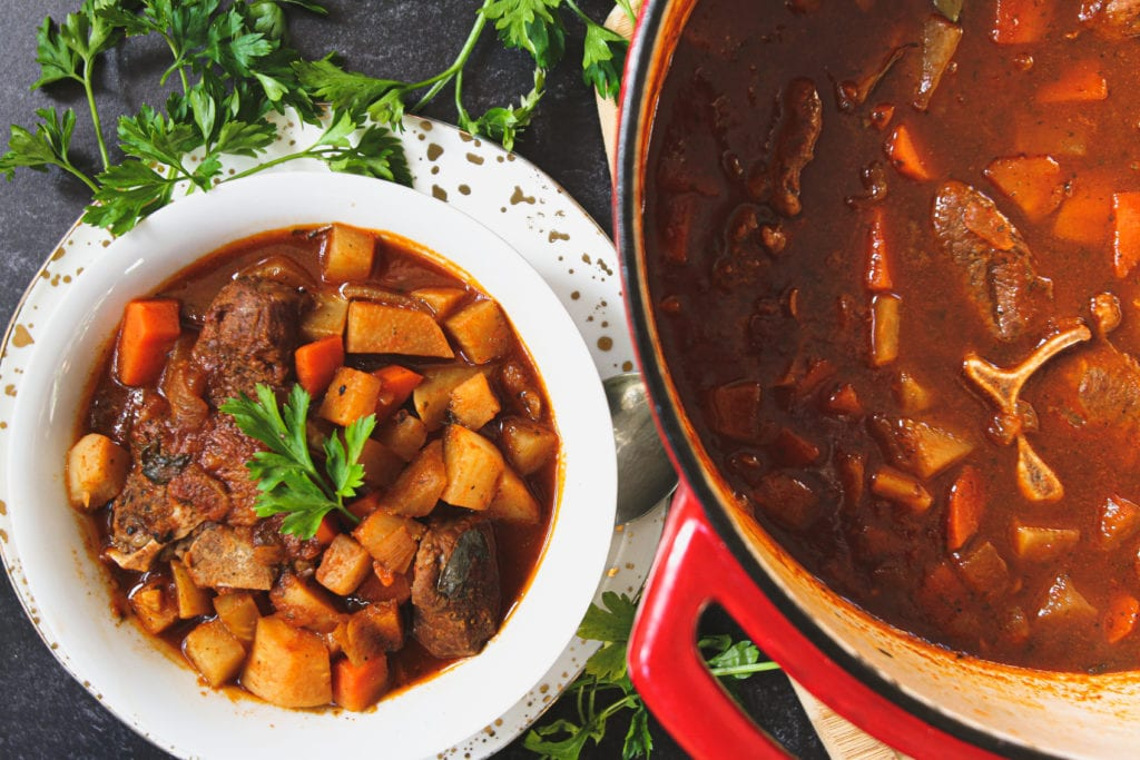 lamb and root vegetable stew cilantro