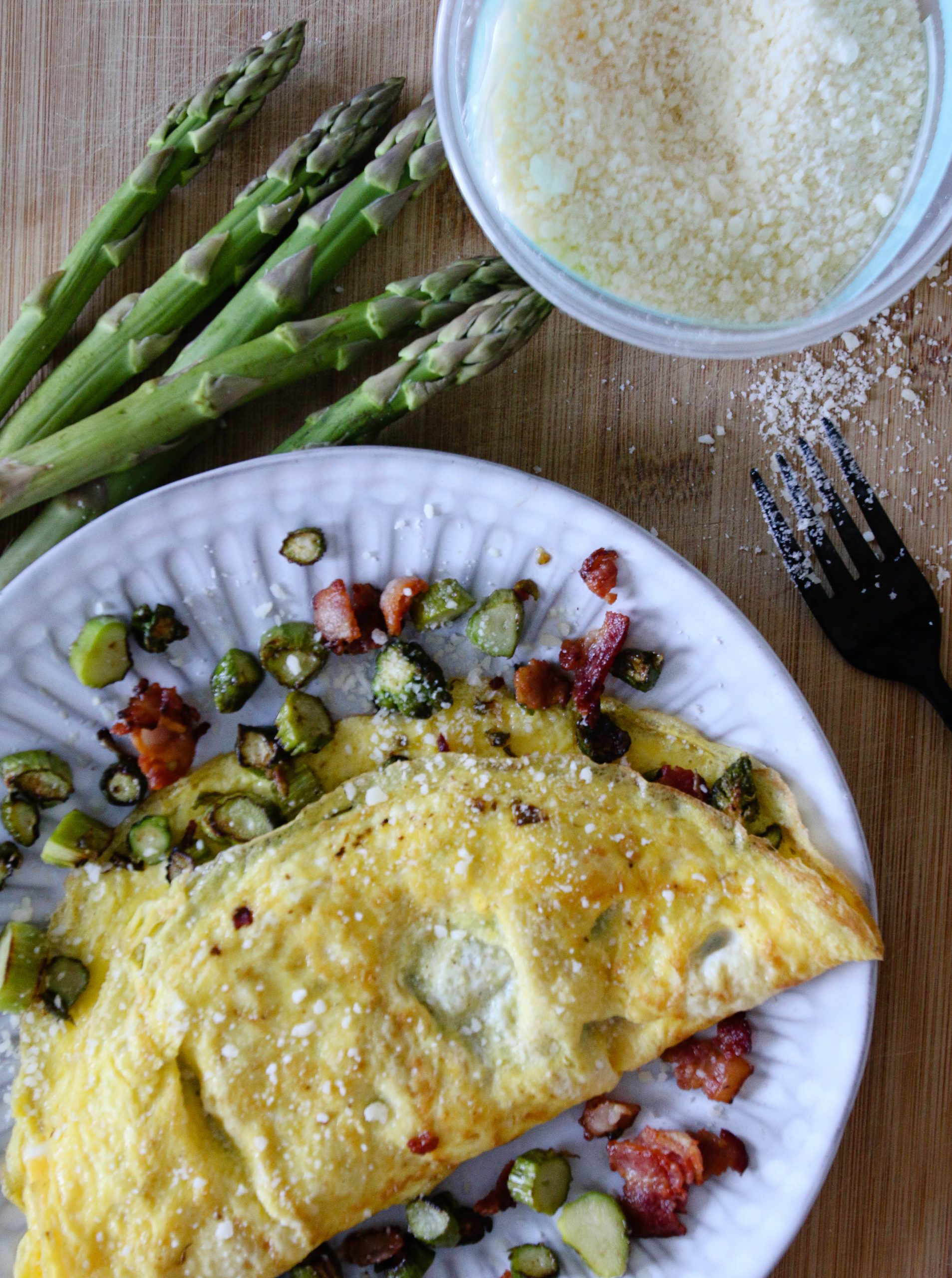 bacon and asparagus omelet