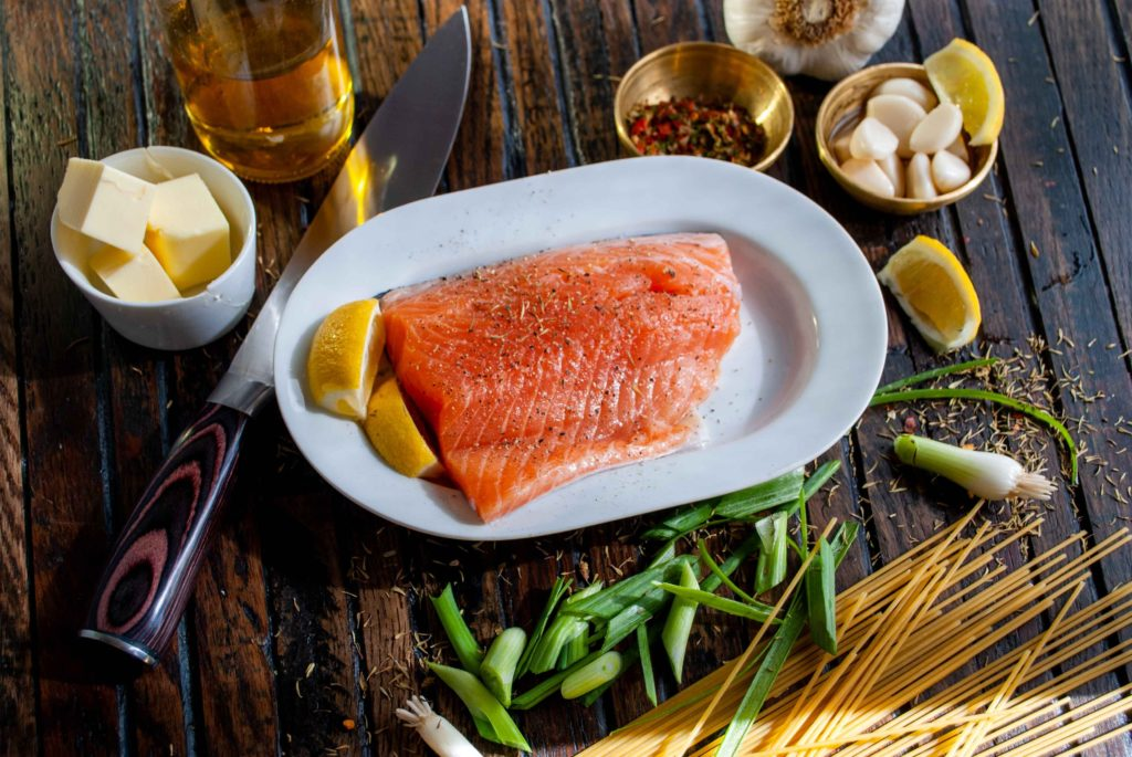 salmon and butter and garlic